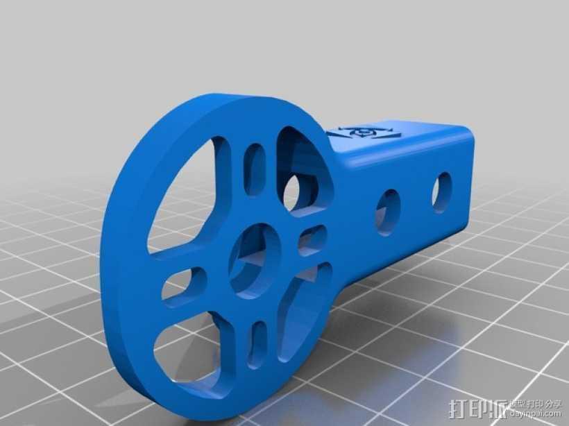 多杆马达固定槽 3D打印模型渲染图