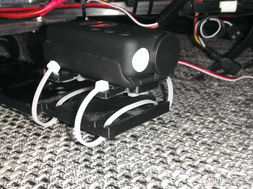 束线带 防震底座 3D打印模型渲染图