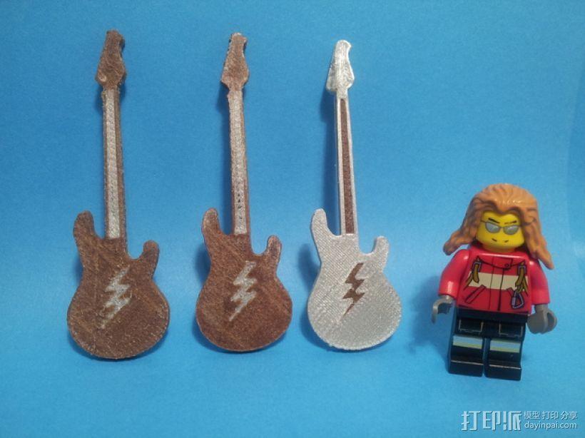 吉他 3D打印模型渲染图