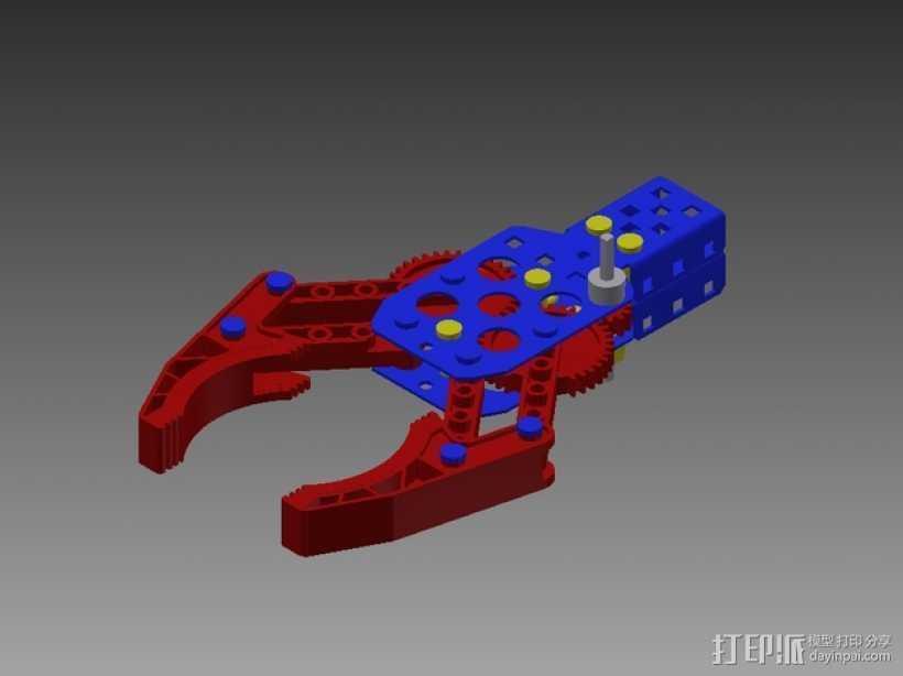 Vex机械爪 3D打印模型渲染图