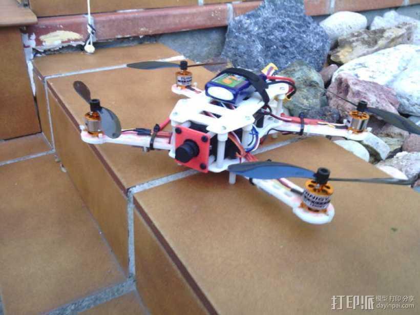 迷你FPV四轴飞行器 3D打印模型渲染图