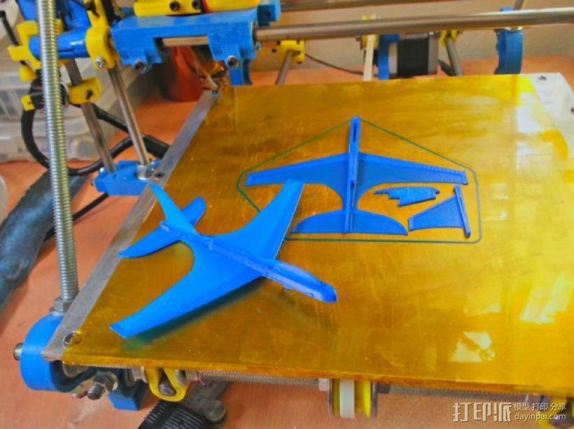 """""""山雀""""滑翔机 3D打印模型渲染图"""