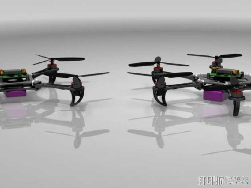 迷你四轴螺旋飞行器 3D打印模型渲染图
