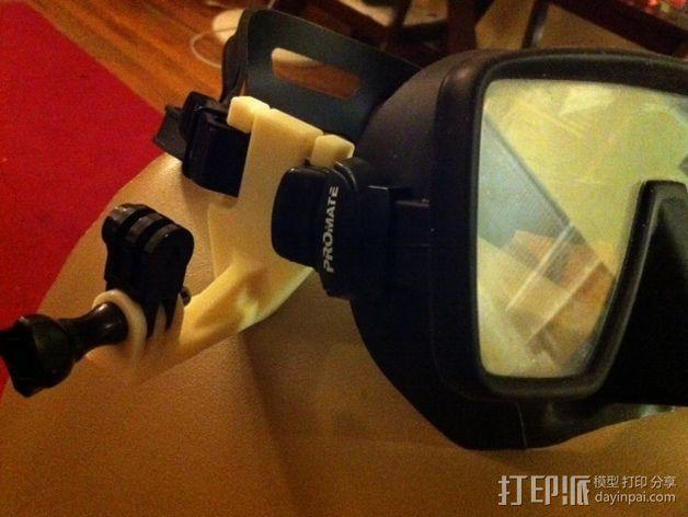 潜水面罩 支架 3D打印模型渲染图
