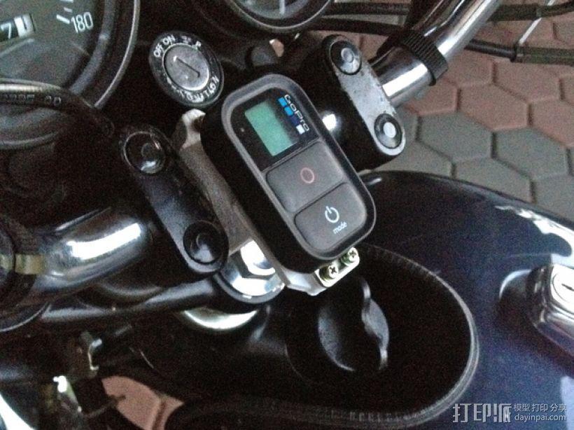 GoPro Wifi Remote自行车固定槽 3D打印模型渲染图