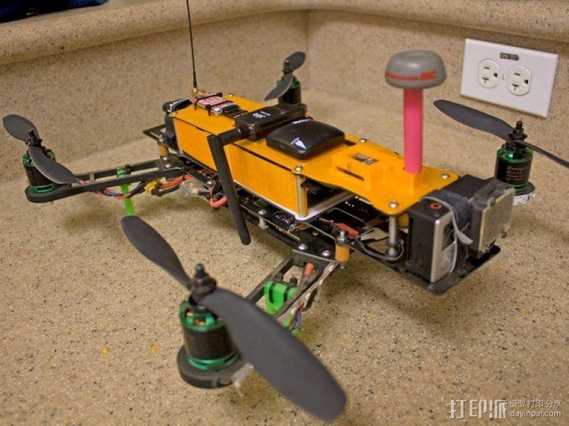 四轴飞行器 面板 3D打印模型渲染图