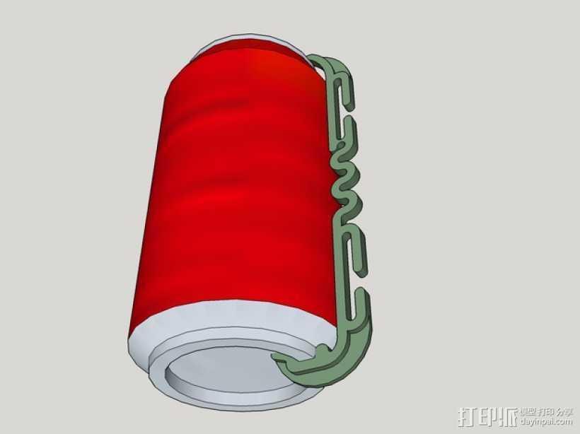 易拉罐把手 3D打印模型渲染图