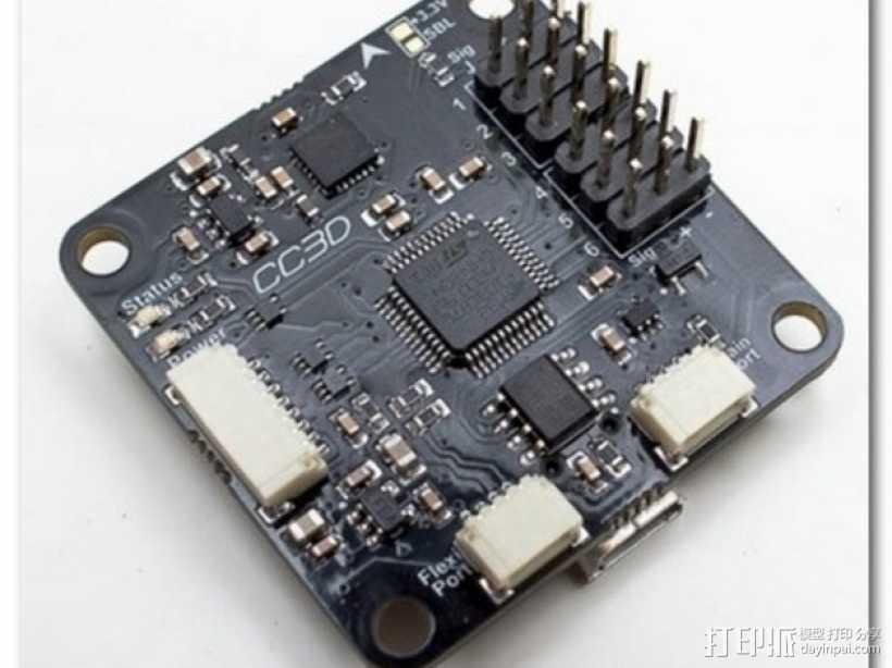 CC3D电路板 底座 3D打印模型渲染图
