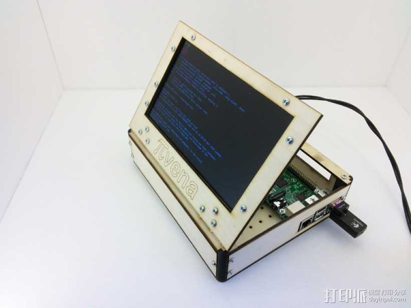 PIvena树莓派电路板外壳 3D打印模型渲染图