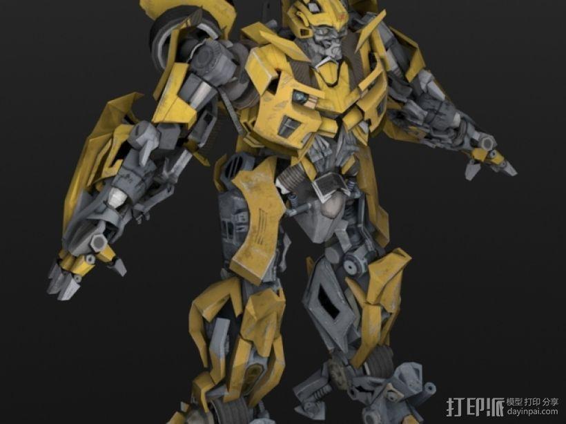 《变形金刚 》大黄蜂 3D打印模型渲染图
