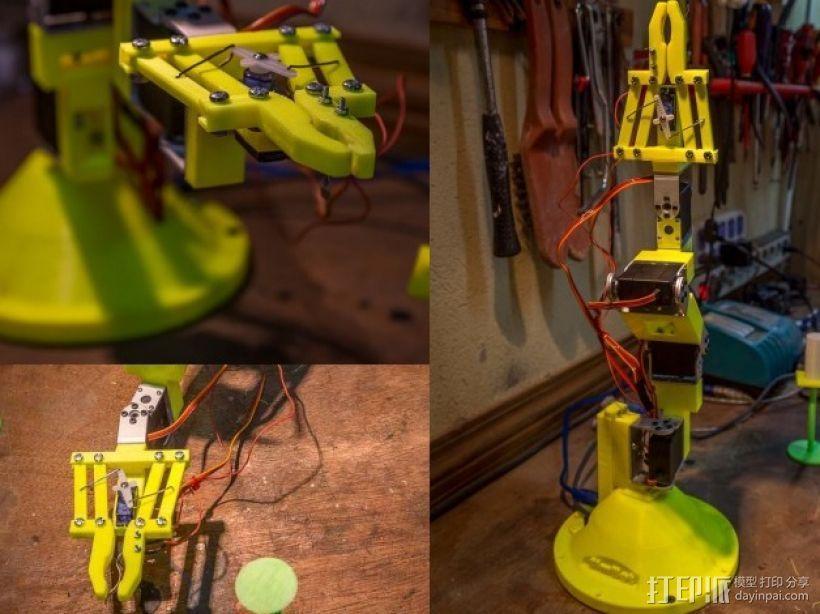 双臂机器人  3D打印模型渲染图