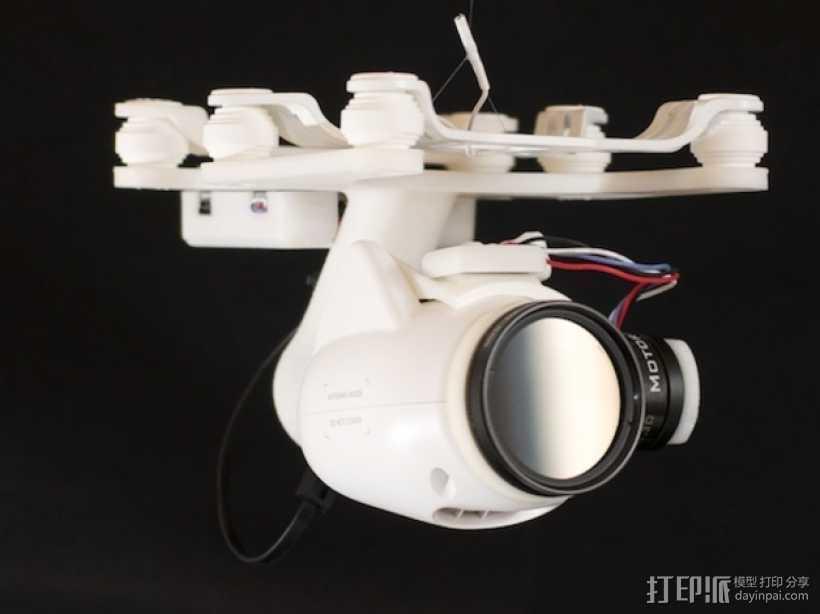 Phantom 2相机2D平衡环 3D打印模型渲染图