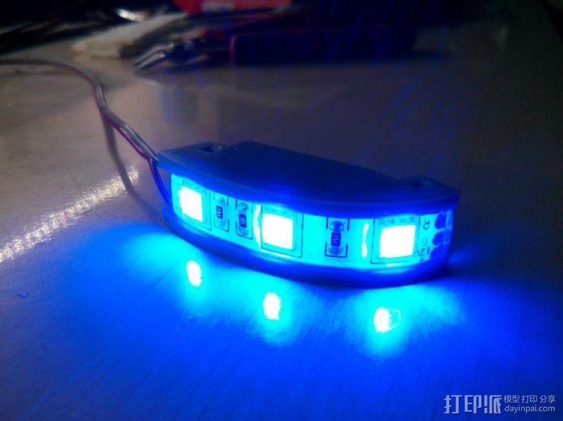 DJI F550-LED 条形安装槽 3D打印模型渲染图