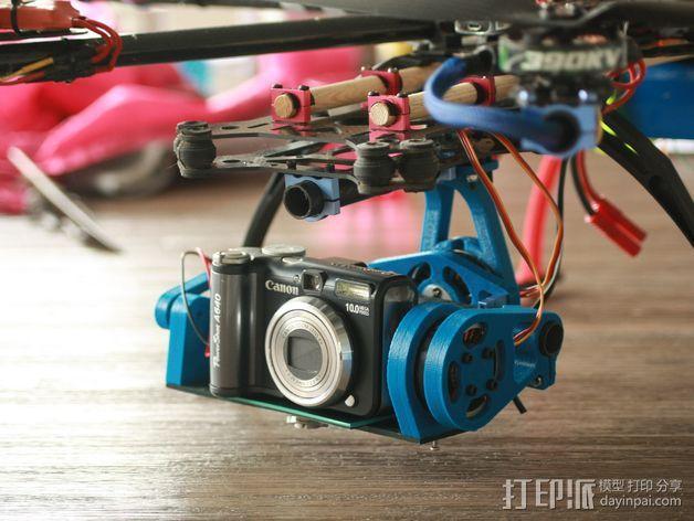 相机平衡环 3D打印模型渲染图