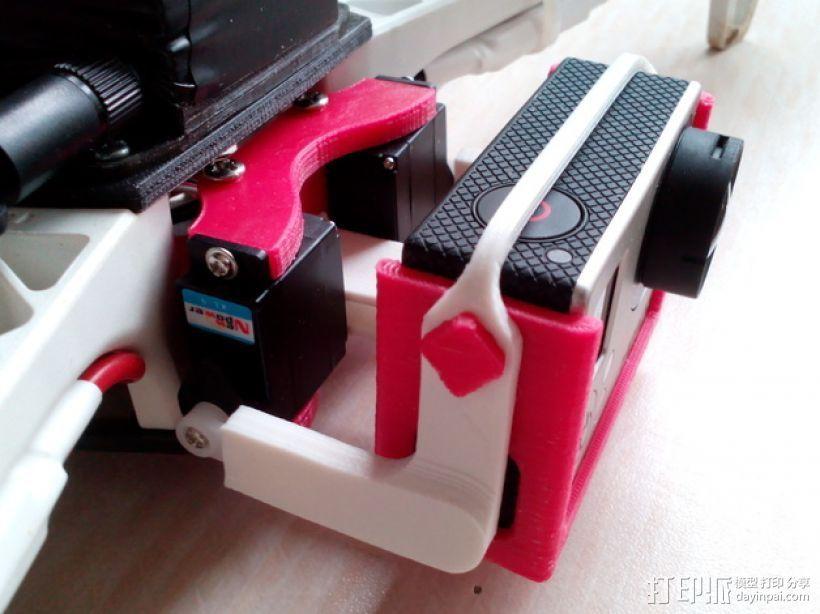 相机 灵活平衡环 3D打印模型渲染图