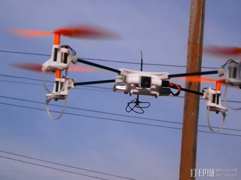 迷你fpv四轴飞行器组件 3D打印模型渲染图