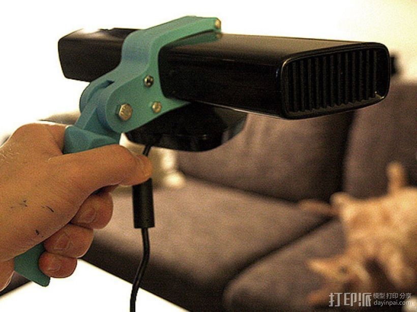 Kinect 握手 3D打印模型渲染图