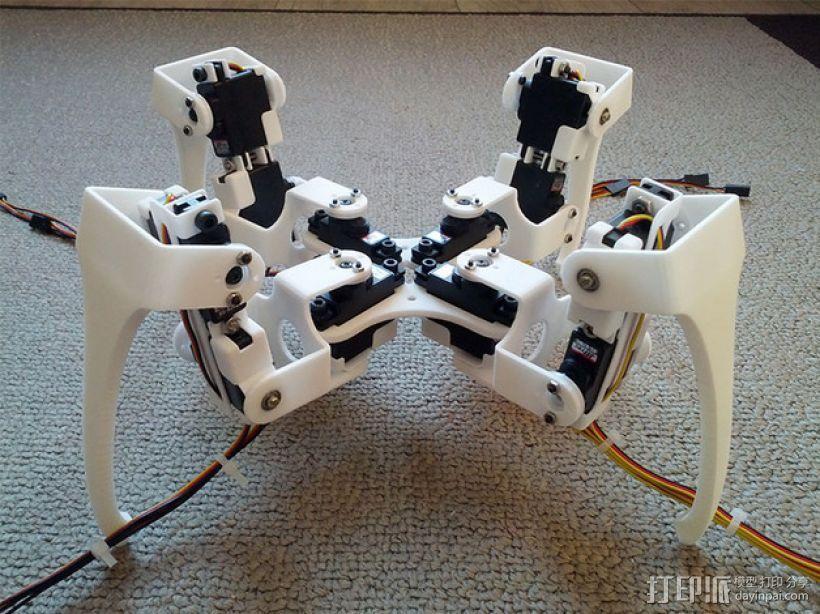 四足步行机器人 3D打印模型渲染图