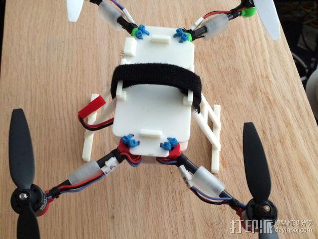 200QX四轴飞行器 3D打印模型渲染图