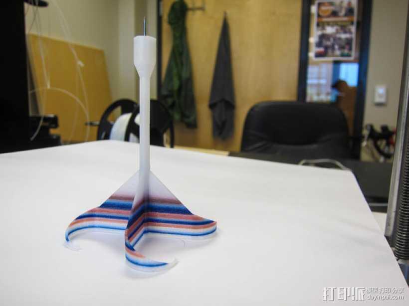 左撇子 飞镖 3D打印模型渲染图