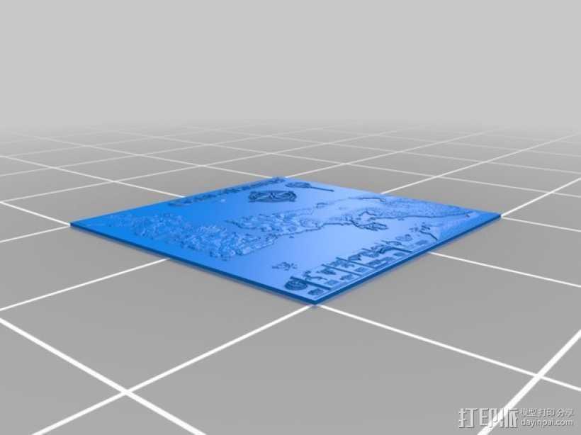 《权力的游戏》地图 3D打印模型渲染图