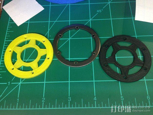 遥控汽车轮胎卡环  3D打印模型渲染图