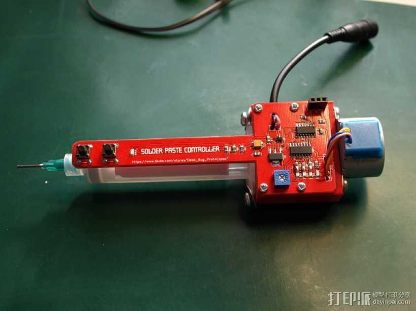 焊锡膏 点胶机 零部件 3D打印模型渲染图