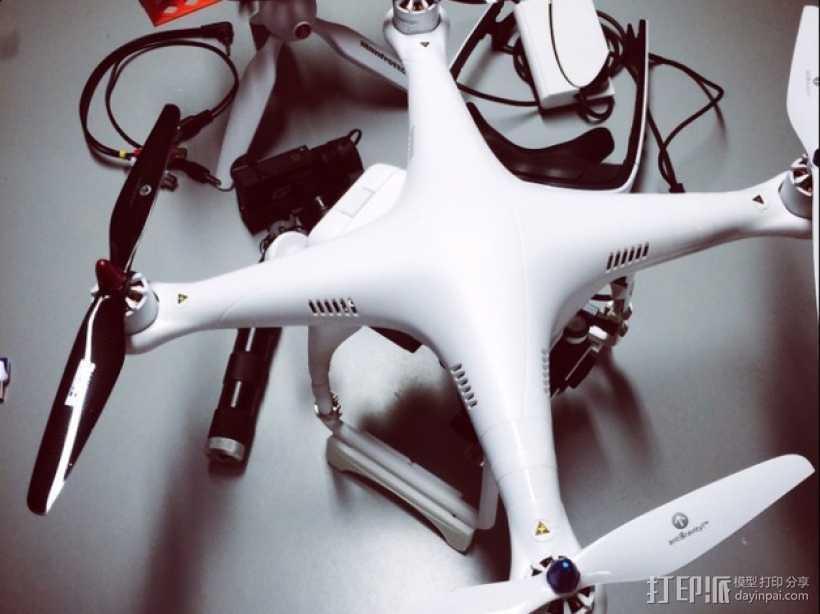 DJI Phantom 四轴飞行器 起落架 3D打印模型渲染图