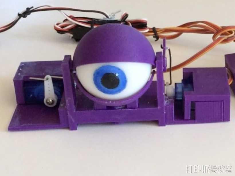 电子仿生眼 3D打印模型渲染图