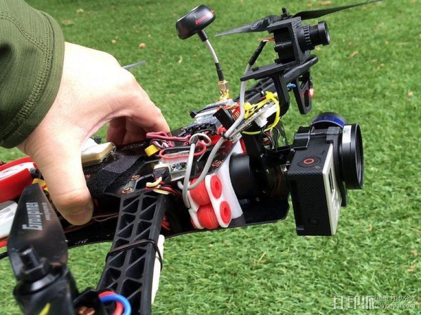 TBS航拍多轴飞行器 支架 3D打印模型渲染图