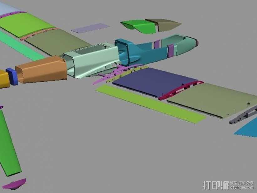 FPV/UAV飞机 3D打印模型渲染图