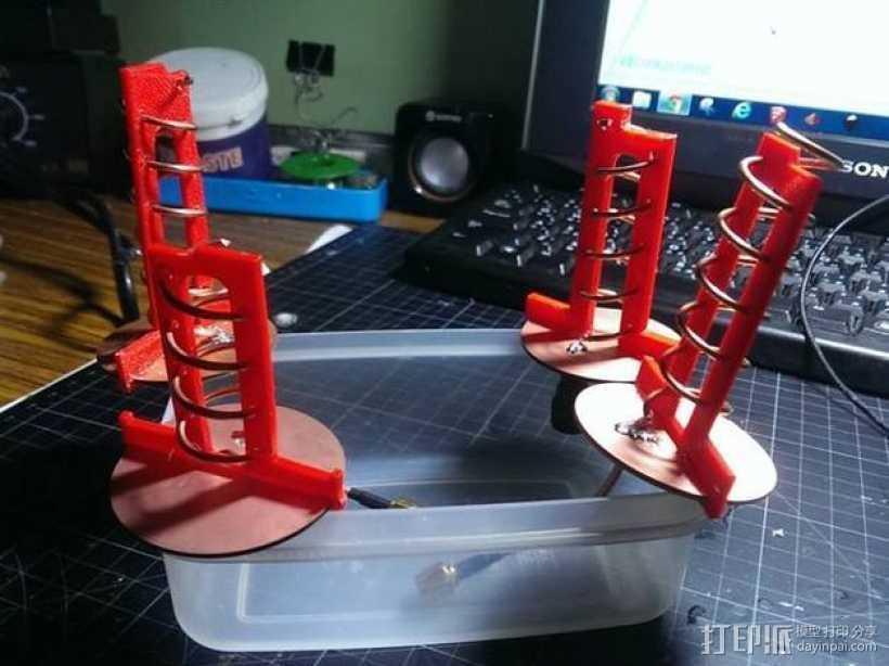 FPV螺旋形天线 3D打印模型渲染图