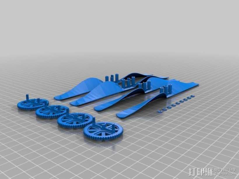 无人机零部件 3D打印模型渲染图