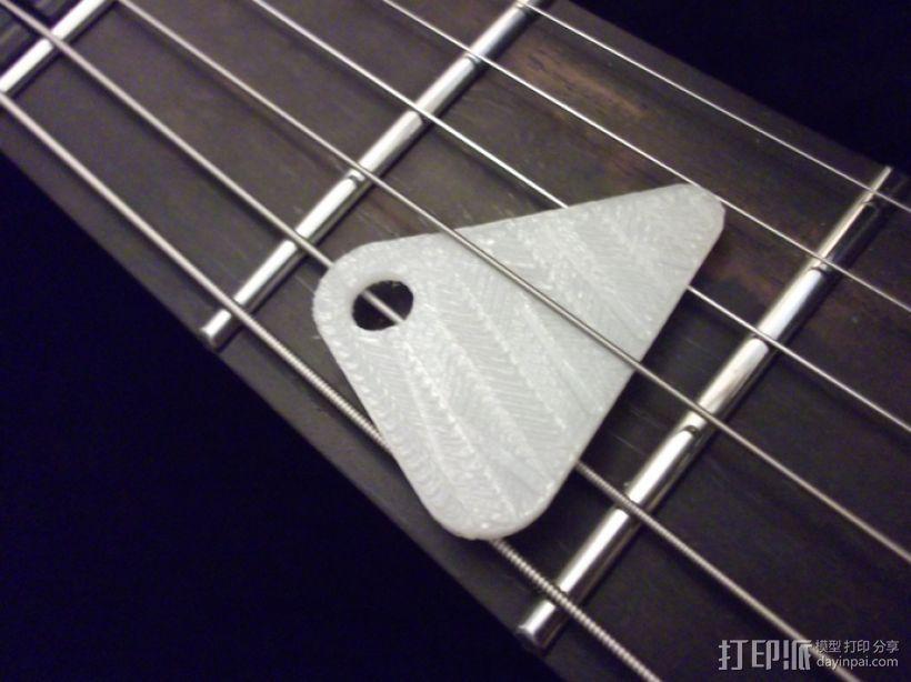 定制化琴拨 3D打印模型渲染图