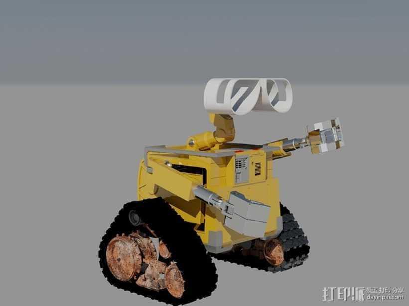 瓦力机器人 3D打印模型渲染图