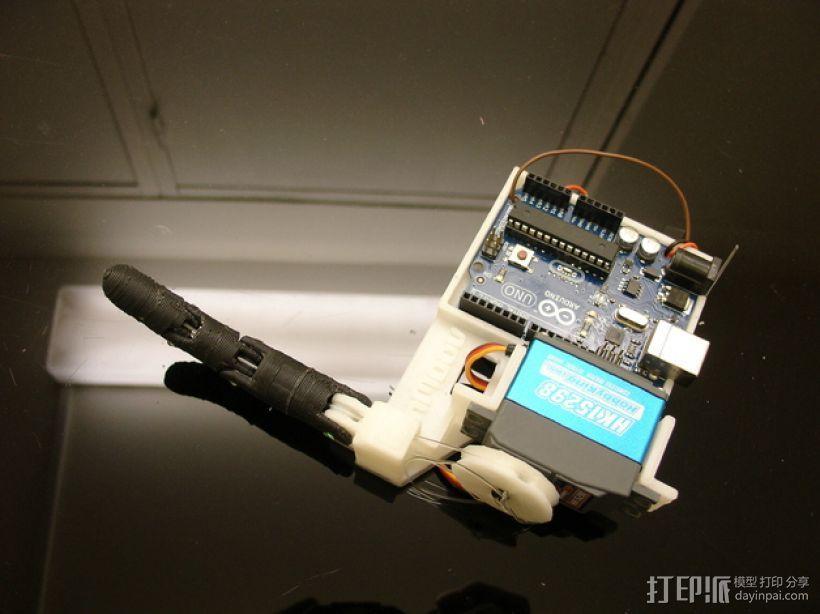 InMoov机械手指 3D打印模型渲染图