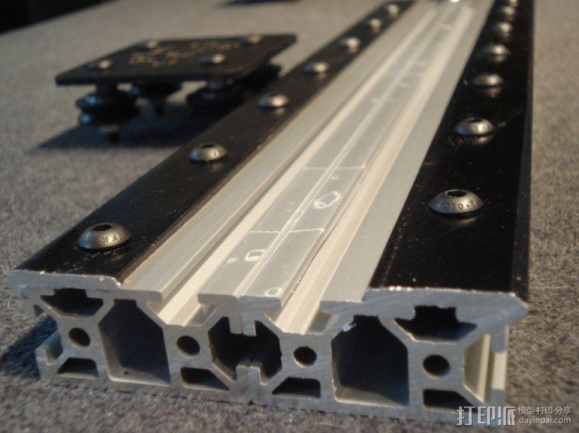 开源直线轴承系统 3D打印模型渲染图