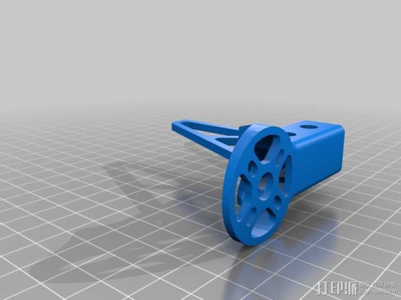 多轴飞行器发动机支架 3D打印模型渲染图