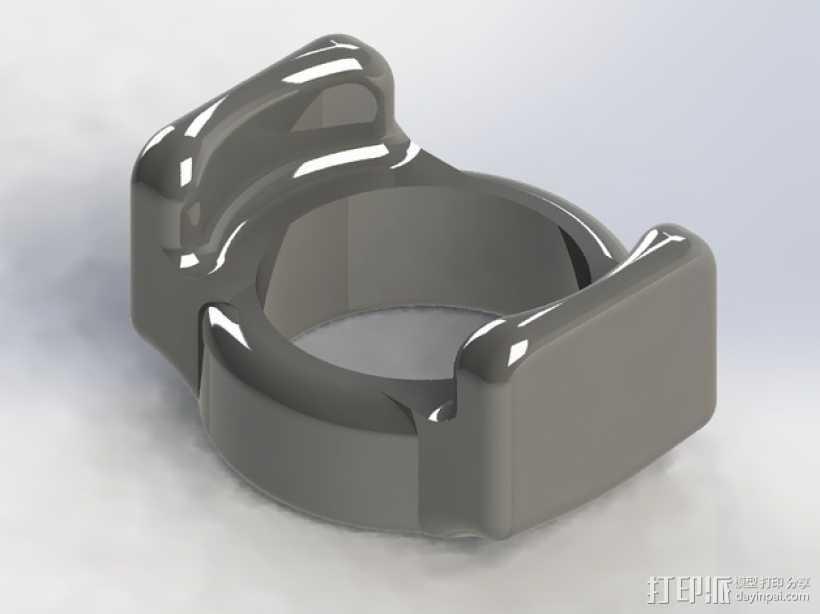 Mobius相机镜头保护器 3D打印模型渲染图