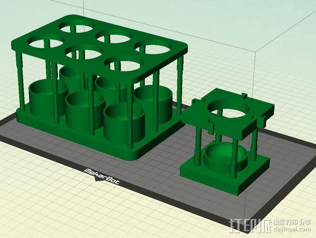 酵母瓶 支架 3D打印模型渲染图