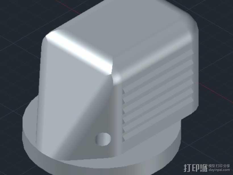 波音737飞机驾驶舱旋钮 3D打印模型渲染图