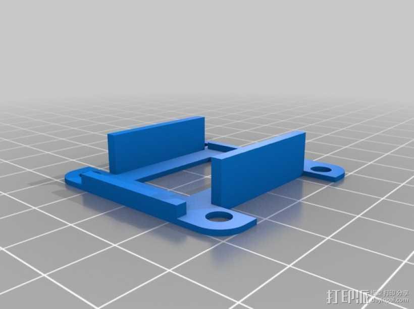 FrSky D4R-II接收器 支架 3D打印模型渲染图