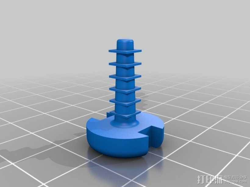 引擎盖工字钉 3D打印模型渲染图