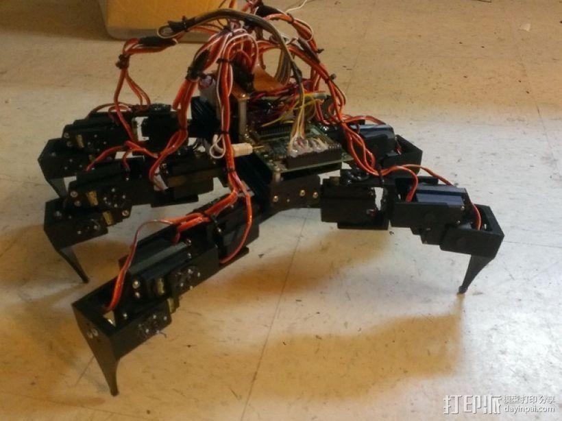 六足仿昆虫机器人 3D打印模型渲染图