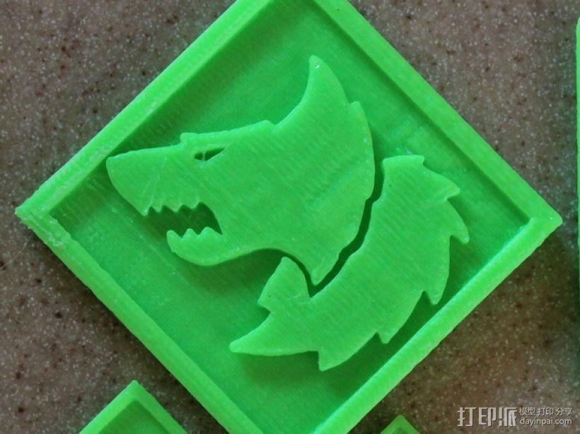 狼头 图标 3D打印模型渲染图
