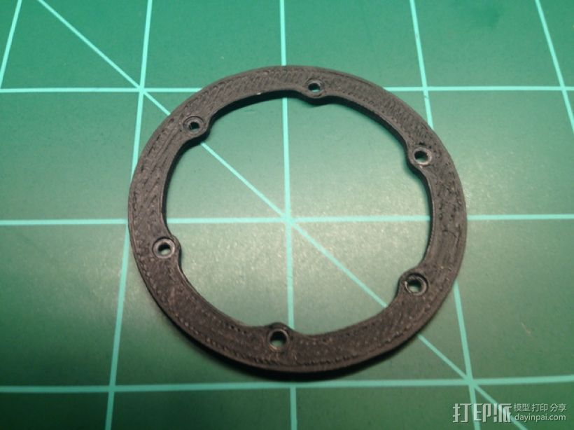 轮胎撑圈 3D打印模型渲染图
