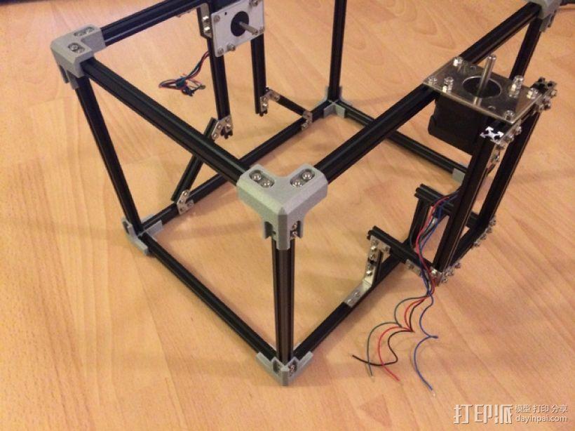 Makerbeam角接 3D打印模型渲染图