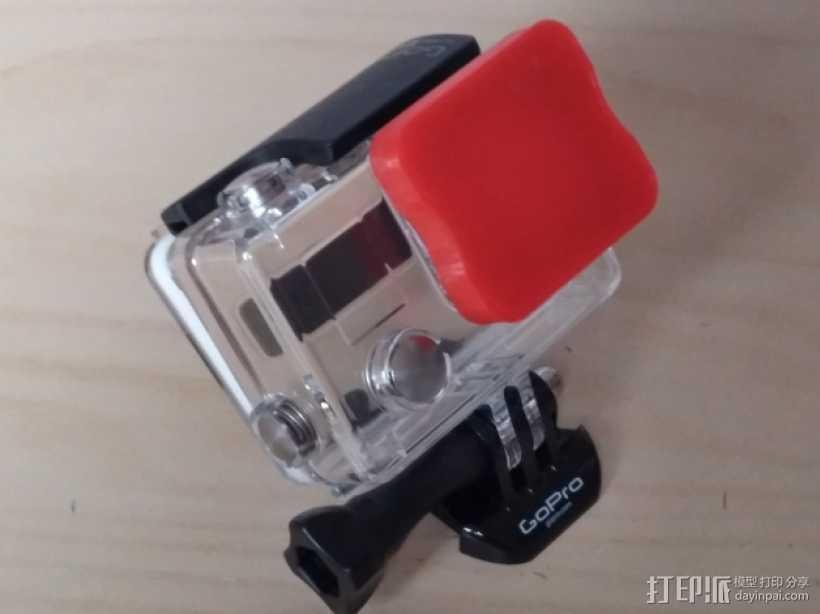 GoPro相机镜头盖 3D打印模型渲染图
