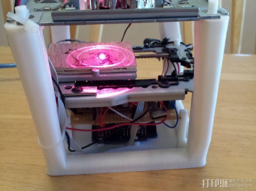 迷你Arduino激光雕刻机  3D打印模型渲染图