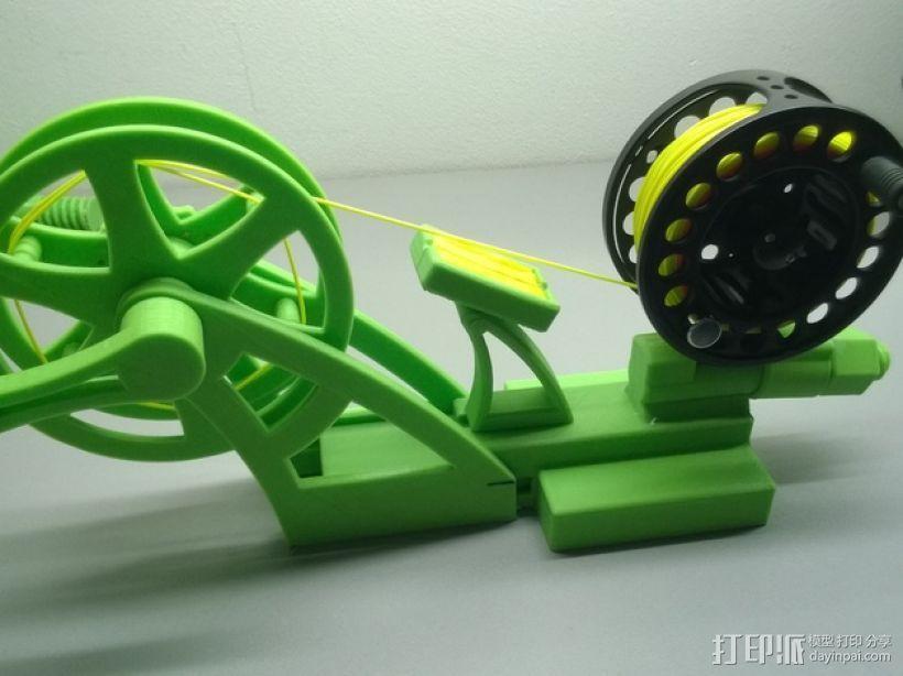 钓鱼线清理和重绕装置 3D打印模型渲染图